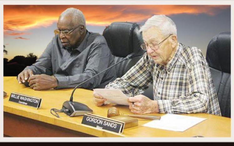Mayor Gordon Sands and Councilman Willie Washington